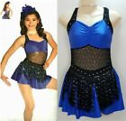 Kyпить Fearless Dance Costume BLUE Tap Dress Rhine Choker Clearance Child & Adult Sizes на еВаy.соm