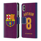 FC BARCELONA 2018/19 PLAYERS HOME KIT GROUP 2 LEATHER BOOK CASE FOR APPLE iPHONE