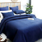 Luxury Bedding Quilt Set Soft Bedspread Pillow Lightweight Microfiber Coverlet image