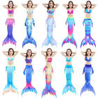 Kids Girl Fairy Mermaid Tail Bikini - Swimmable Tail Swimming Swimwear Costumes