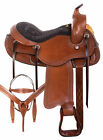 Premium Western Gaited Trail Chestnut Leather Horse Saddle Tack Set 15 16 17 18
