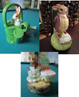 BEATRIX POTTER ENGLAND ROTATING MUSIC BOX RABBIT IN WATERCAN PICK I
