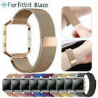 Replacement Stainless Steel Loop Strap Wrist Band+Frame for Fitbit Blaze Watch image