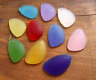 PICK COLOR 4pcs 36mm wing top drilled Pendant Sea Glass frosted Bead recycled