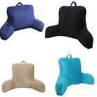 Micro Mink Plush Bed  Back Rest Pillows Tv Lounger Couch Floor Reading Pillows