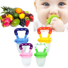 Toddlers Infant Baby Boys Girls Teething Toys Soft Silicone Fruit Teether Holder