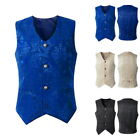 2019 NEW Mens Retro Formal Waistcoat Gothic Steampunk Vest Cosplay Jacket Top