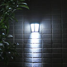 6LED Solar Power Wall Mount Light Outdoor Garden Path Way Fence Yard Patio Lamp~