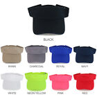 Solid Cotton Twill Fashion Visor Cap with Sweatband - FREE SHIPPING