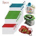 Washable Fruit Grocery Bags Vegetable Toys Pocket Mesh Storage Bag Nylon Pouch