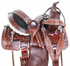 Beautiful Western Youth Kids Ranch Roping Trail Leather Horse Saddle Tack 12 13