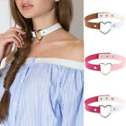Women's Faux Leather Love Heart Collar Choker Necklace Jewelry Decoration Code