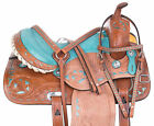 Cowgirl Barrel Racing Racer Trail Western Horse Saddle Tack Set Used 14 in