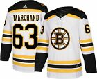 Mens Boston Bruins 63 Marchand 73 Mcavoy 88 Pastrnak NHL White Jersey