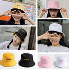 Women Double-sided Wear Fisherman Bucket Hat Word Embroidered Chinese Visor Cap