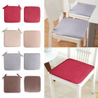40*40cm Cushion Office Chair Garden Indoor Tie On Flax Dining Seat Pad
