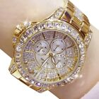 Ladies simulate Diamond Watch Gold Plated Women Luxury Fashion Quartz Wristwatch image
