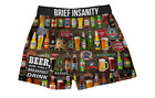 Brief Insanity Beer for Breakfast Bud Ale Brew Boxer Shorts Underwear 7035