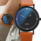 Mens Classic Casual  Watch Analog Wristwatch PU Band Quartz Watches Simple Gift
