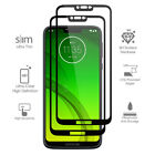For Motorola Moto G7 Power FULL COVER Tempered Glass Coverage Screen Protector