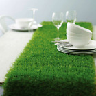 """12"""" x 108"""" Green Artificial Grass Table Runners Wedding Party Supply Decorations"""