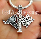 New york City Map The Bigg apple Statue of Liberty Pendant Bracelet necklace