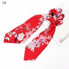 BOHO Bow Satin Long Ribbon Ponytail Scarf Hair Tie Scrunchies Elastic Hair Rope
