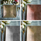 """METALLIC SQUARE CHARGER PLATES 24 pcs 12"""" Dinner Servers Wedding Party TABLEWARE"""