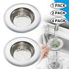 2Pc Sink Strainer Filter Stainless Steel Kitchen Waste Drain Stopper Basket Hold