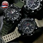 Men's Military Sport Wrist Watch Quartz Dual Movement with Analog Digital SMAEL  image