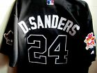 New! BLK Atlanta Braves #24 Deion Sanders cooperstown w/2patches sewn Jersey men on Ebay
