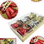 1F1E 6pcs 3size Xmas Bell Party Holiday Festival Decor Home Ornament Supplies
