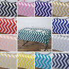 PLASTIC TABLE COVERS 54x72 in Chevron Disposable TABLECLOTHS Birthday Party SALE