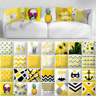 Yellow Pillows Case Elephant Geometric Sofa Car Cushion Cover Home Decorative