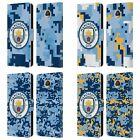 MAN CITY FC DIGITAL CAMOUFLAGE LEATHER BOOK CASE FOR MOTOROLA PHONES