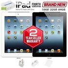 New APPLE iPad 4th Generation 1GB/16GB 32GB 64GB Black Retina PC Tablet (WiFi)