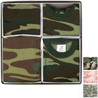 Camo Military Newborn Baby Gift Set Infant Army Blanket Cap Bib Bodysuit Unisex