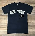 Mens MLB New York Yankees Aaron Judge Navy Blue T-Shirt #99 Size S, M, L, XL