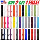 Silicone Band Wrist Strap For Apple Watch iWatch Sports Series 1/2/3/4/5 38-44mm image