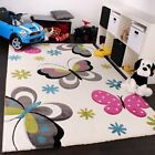 Kids Rug Nursery Unisex Thick Soft Children Bedroom Carpet Play Mat Butterfly