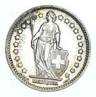 Roughly Size of Quarter - 1957 Switzerland 1 Franc - World Silver Coin *048
