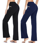 Women's Solid Color Bootcut Yoga Pants  Workout Fitness Bottom Trousers