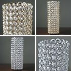 """16"""" tall Faux Crystal Beaded Cylinder Shaped Candle Holder Decorations SALE"""