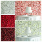 4 pcs Silk Roses and Hydrangea Flowers Wall Backdrop Panels Wedding Decorations