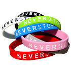 NEVER STOP Wristbands! The Motivation Band You Wear! 7 Styles Available! NEW!! image