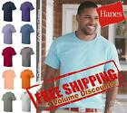 Hanes Mens Short Sleeve Cotton Blank Tagless T Shirt 5250 up to 6XL