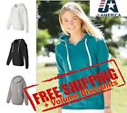 J America Women's Sueded V-Neck Hooded Sweatshirt 8836 up to 2XL