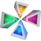LED Chic Charminer 7 Pyramid Change Colours Digital Clock With Date Alarm Clock