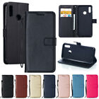 Magnetic Leather Flip Wallet Case Cover For Huawei P Smart 2019 Honor 5X 6X 8 10