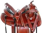 Western Trail Gaited Horse Saddle Tooled Leather Tack Set 16 17 in